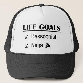 Bassoonist Ninja Life Goals Trucker Hat