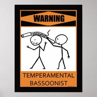 Bassoonist temperamental amonestador impresiones