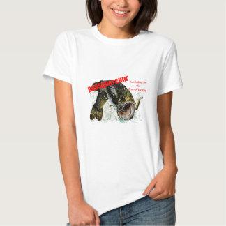 Bassquatchin on the hunt t-shirt