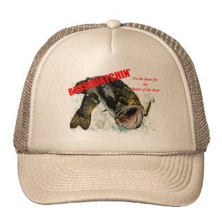 Bassquatchin' on the hunt trucker hat