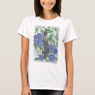 Bast Amidst Hydrangeas T-Shirt