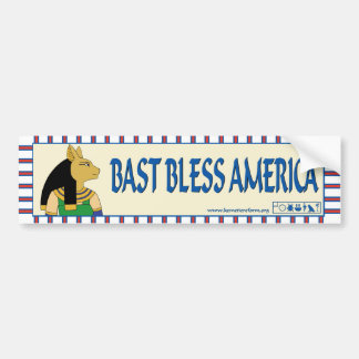 Bast Bless America bumper sticker
