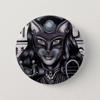 Bast Cat Goddess Egyptian Button