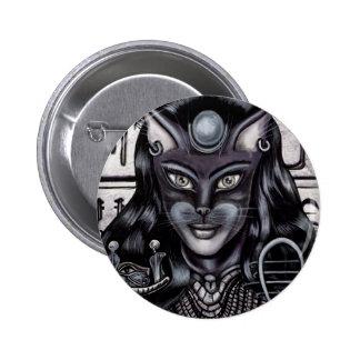 Bast Cat Goddess Egyptian 2 Inch Round Button