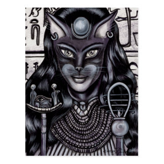 Bast Cat Goddess Egyptian Postcard