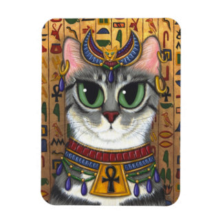 Bast Goddess Cat Egyptian Bastet Art Magnet