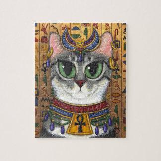 Bast Goddess Cat Egyptian Bastet Art Puzzle