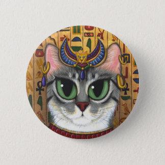 Bast Goddess Egyptian Bastet Cat Art Button