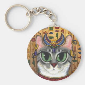 Bast Goddess, Egyptian Bastet Cat Art Keychain