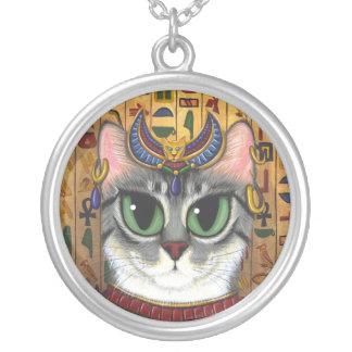 Bast Goddess Egyptian Bastet Cat Art Necklace