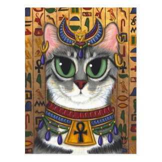 Bast Goddess Egyptian Bastet Cat Art Postcard