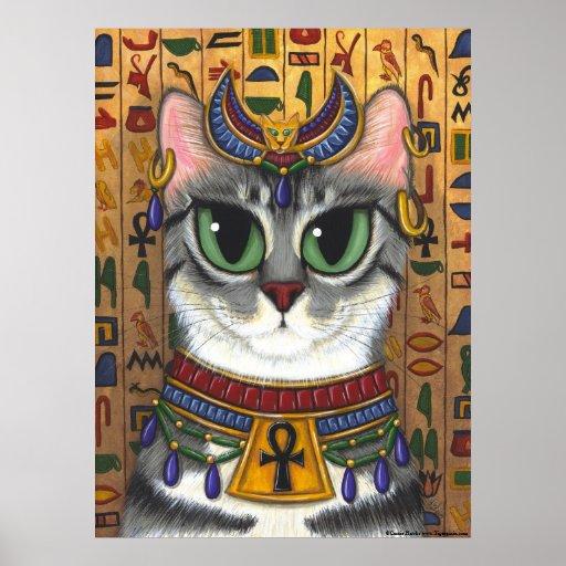 Bast Goddess, Egyptian Bastet Cat Poster