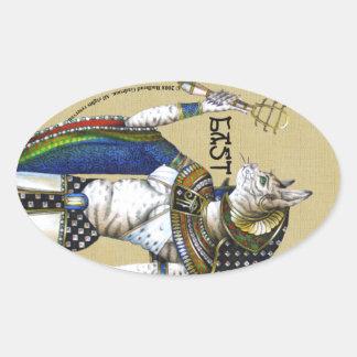 Bast Oval Sticker