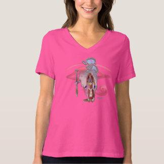 Bast Whisps Ladies V-Neck Plus Size T-Shirt