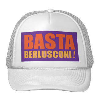 ¡Basta, Berlusconi! Gorros Bordados