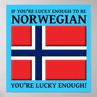 Bastante afortunado ser muestra noruega del poster