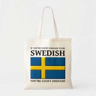 Bastante afortunado ser tote sueco del bolso bolsa