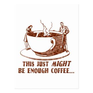 ¿Bastante café? Postal