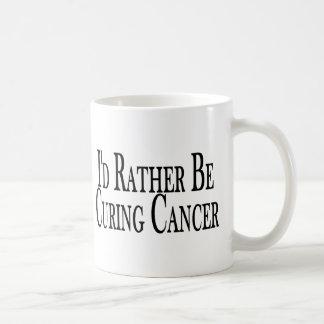 Bastante cáncer de la curación taza de café