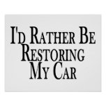 Bastante coche del restablecimiento poster
