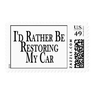 Bastante coche del restablecimiento sellos