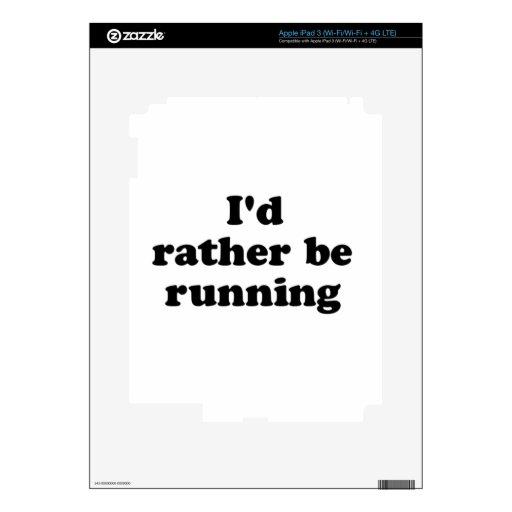 bastante corriendo iPad 3 pegatina skin