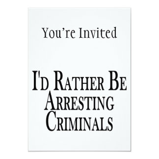 """Bastante criminales de la detención invitación 5"""" x 7"""""""