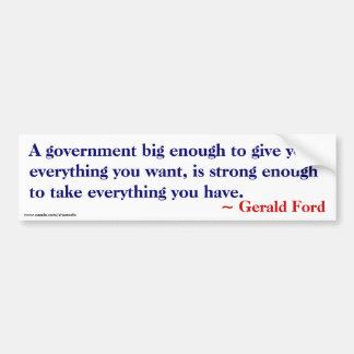 Bastante grande darle todo - Ford cita Pegatina De Parachoque