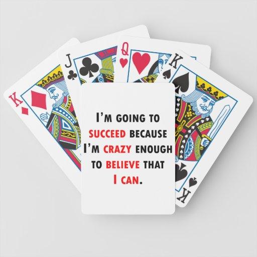 Bastante loco tener éxito barajas de cartas