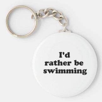 bastante nadando llavero redondo tipo pin