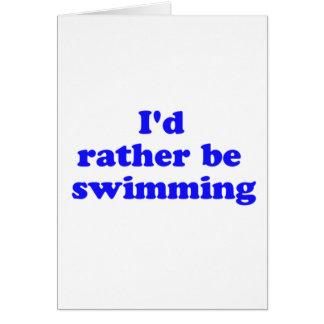 bastante nadando tarjeta de felicitación