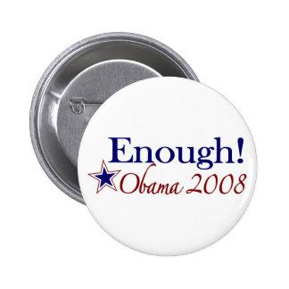 Bastante Obama 2008 (lápiz labial en un cerdo) Pin