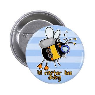 bastante salto de la abeja pin redondo 5 cm