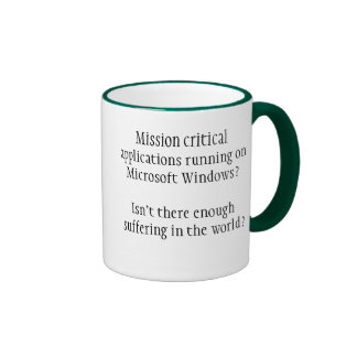 Bastante sufrimiento taza de café