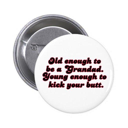 Bastante viejo Grandad Pin
