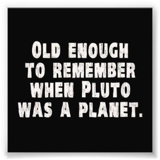 Bastante viejo recordar cuando Plutón era un plane Fotografía