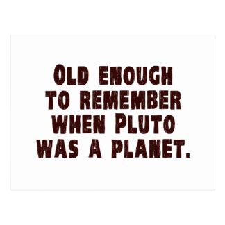 Bastante viejo recordar cuando Plutón era un Tarjeta Postal