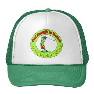 Bastante viejo retirar (2) gorras