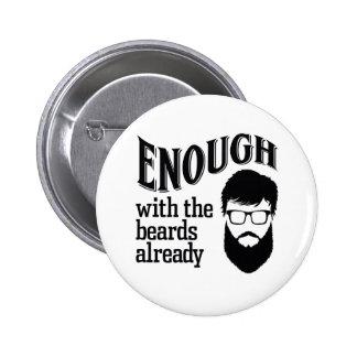 Bastantes con las barbas ya pin redondo 5 cm