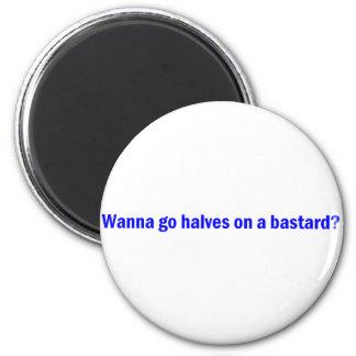 Bastard 2 Inch Round Magnet