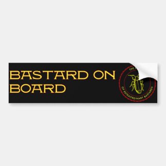 bastard on board bumper sticker car bumper sticker