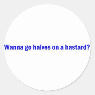 Bastard Round Sticker