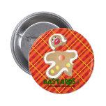 'BASTARDS !' gingerbread man cookie humorous pin