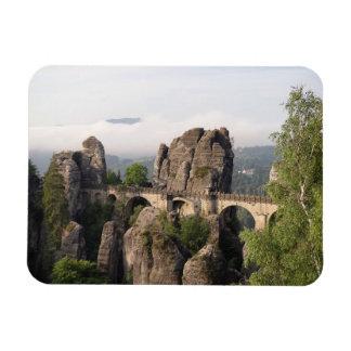 Bastei Bridge In Germany rectangular magnet