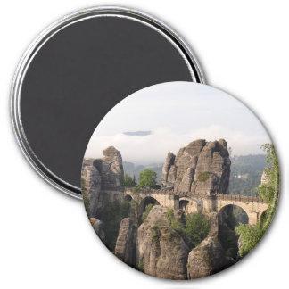 Bastei Bridge In Germany round magnet