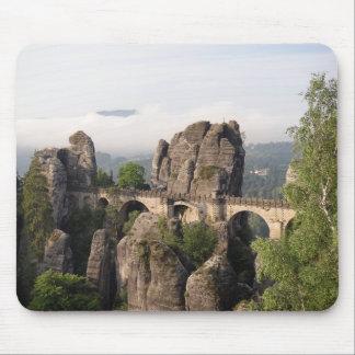 Bastei Bridge In Saxon Switzerland mousepad