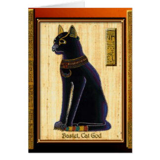 BASTET ~ Ancient Egyptian Cat God Greeting Card