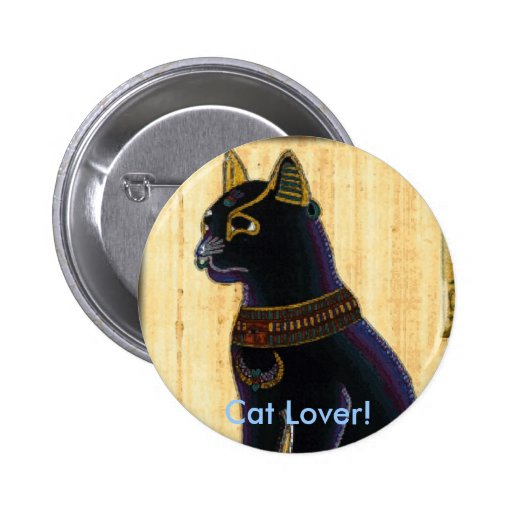 BASTET ~ Cat God Button