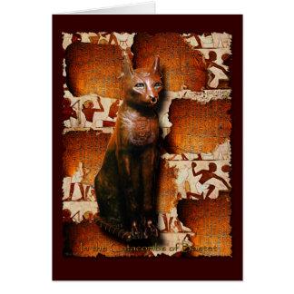 BASTET ~ Cat God of Ancient Egyptian Religion Greeting Card