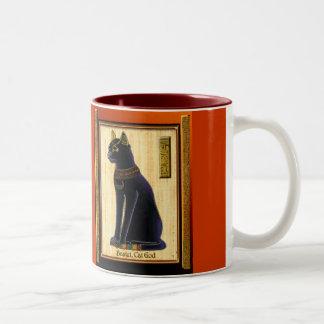 BASTET ~ Cat God Two-Tone Coffee Mug